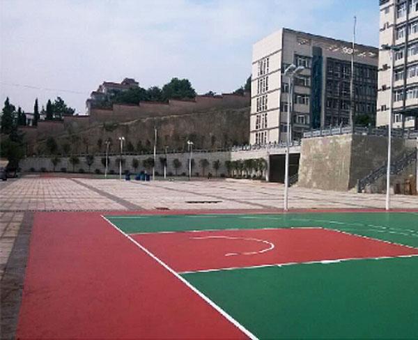 贵阳市南明区武装部硅PU篮球场