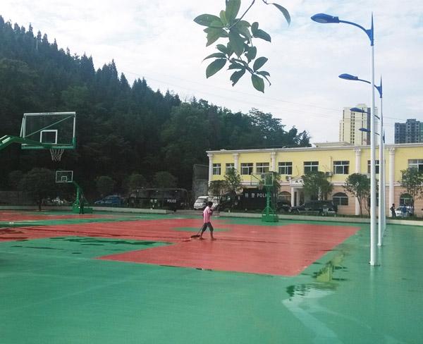 凤冈县公安局硅PU篮球场